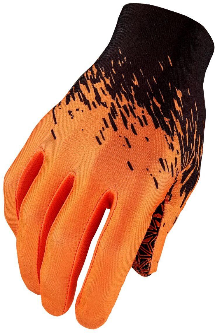 Pair Black//White Supacaz Short Finger Gloves L SupaG Twisted